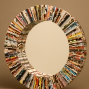 recycled-magazine-decorated-mirror