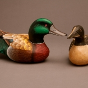wooden-painted-ducks