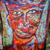 Glorious Colorful Batik Face