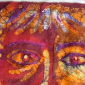 Stitching Over Batik Art
