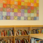 Erdenhiem Batik Quilts in the Library