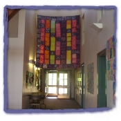 Batik hanging in Common Hall of The Montgomery School