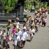 Balinese Proceeding to Besaki Temple