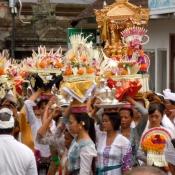Balinese Women Caring Offerings