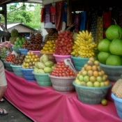 Bill Choosing Delicious Fruits from Mountain Market