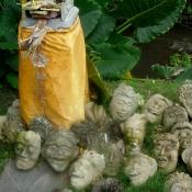 Carved Stone Crazy Masks