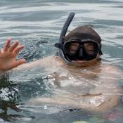 Daniel Going Scuba Diving Off of Rinca Island