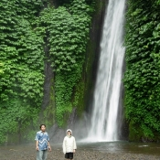 Daniel Made at Waterfall in Bali