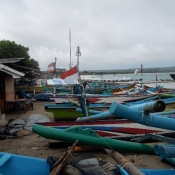 Fishing Boats on Shore in Southern Bali