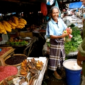 Flores Woman in Her Market Stall