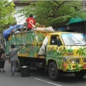 Gloriously Painted Garbage Trucks Bali