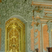 Incredible Carving and Gold Gilded Doors in Bali