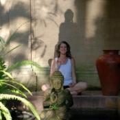 Laura in Peace in Bali