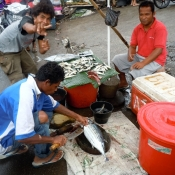 Selling Fish at Market in Bima Flores