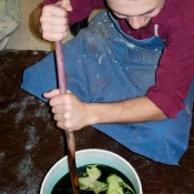 art-teacher-at-upper-darby-stirring-dye-pot