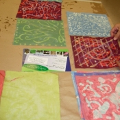 drying-finished-batiks-at-upper-darby