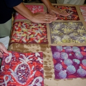 Finished Batiks by Art Teachers at Upper Darby