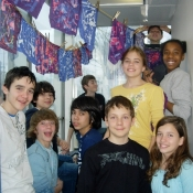 French Students in the Drying Room
