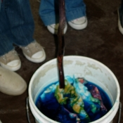 Stirring the Dye Pots