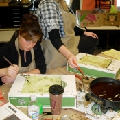 Waxing with Upper Darby Art Teachers